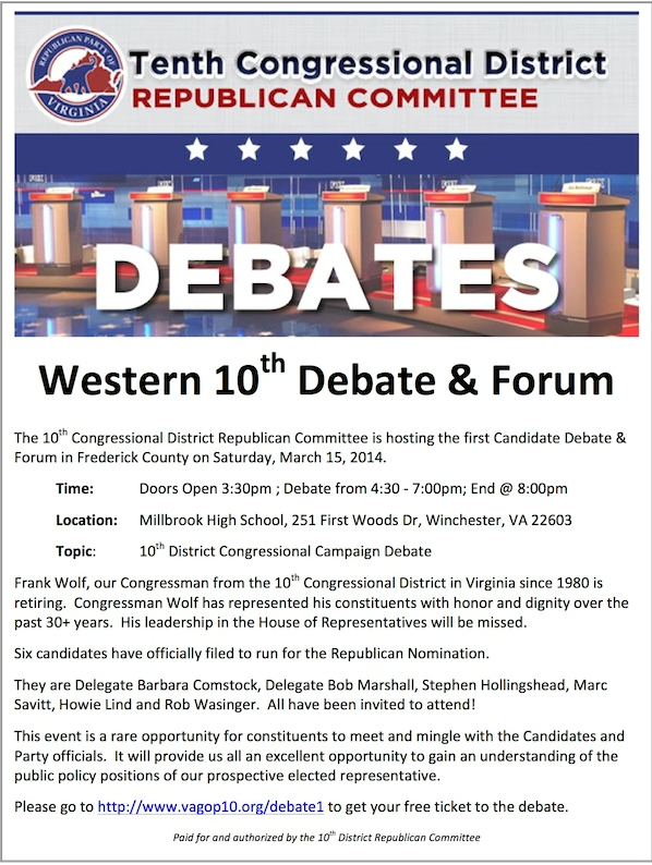 debate announcement