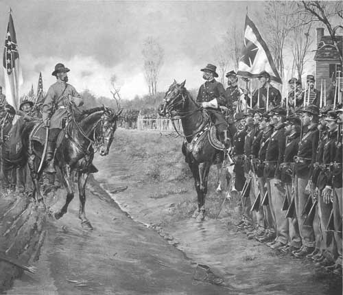 THE LAST SALUTE. (PAINTING BY DON TROIANI. PHOTO COURTESY OF HISTORICAL ART PRINTS, SOUTHBURY, CT.)