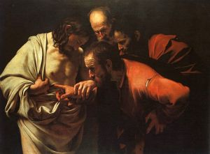 The Incredulity of Saint Thomas by Caravaggio.