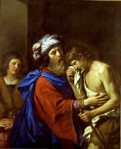 Return of the prodigal son -- Guercino
