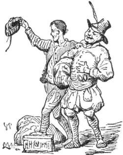 """The two weavers in """"The Emperor's New Clothes"""" by Hans Christian Andersen"""