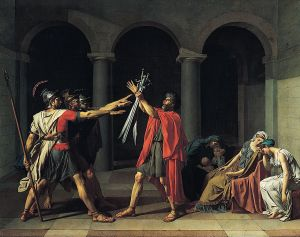 Oath of the Horatii by Jacques-Louis David (1748–1825)