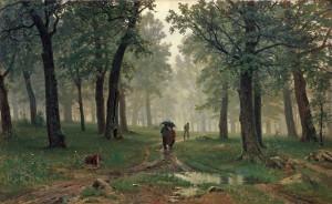 Rain in an oak forest --  Ivan Shishkin (Russian:  1832 – 1898)