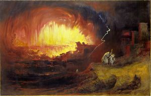 The Destruction of Sodom and Gomorrah, John Martin, 1852. (from here)
