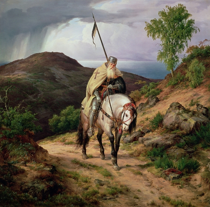 Last Crusader by Karl Friedrich Lessing (1808–1880)