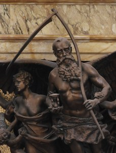 Detail of Father Time in the Rotunda Clock (1896) by John Flanagan, Library of Congress Thomas Jefferson Building, Washington, D.C.
