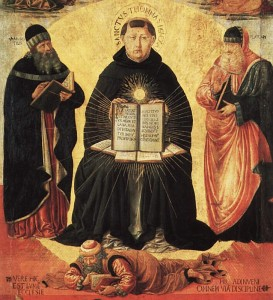 The Glory of St. Thomas Aquinas, detail. Paris, Musée du Louvre.