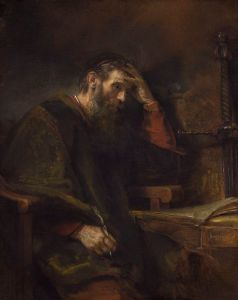 Paul the Apostle, by Rembrandt Harmensz van Rijn c. 1657