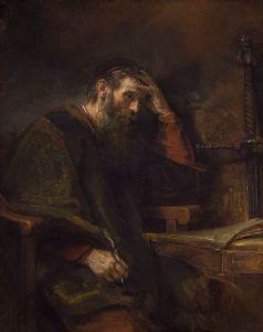 Paul the Apostle, by Rembrandt Harmensz van Rijn c. 1657