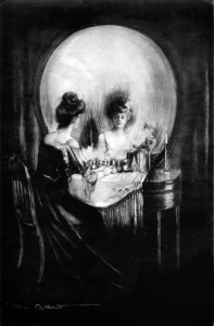 """""""All Is Vanity"""" by C. Allan Gilbert, evoking the invetiable decay of life and beauty toward death."""