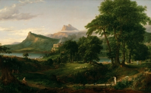 The Arcadian or Pastoral State. Oil on canvas, 1834, by Thomas Cole