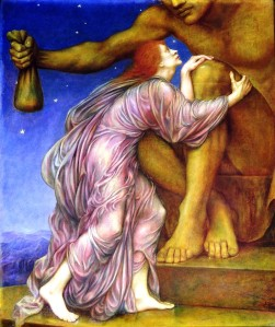 The Worship of Mammon -- 1909 painting by Evelyn De Morgan. (from here)