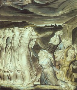 The Parable of the Wise and Foolish Virgins (1822) by William Blake, Tate Gallery.