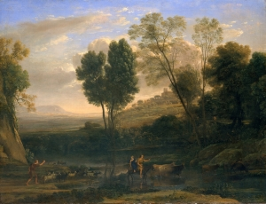 Sunrise (1646–47) by Claude Lorrain located at the Metropolitan Museum of Art, New York.