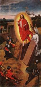 Resurrection of Christ by Hans Memling (from here)
