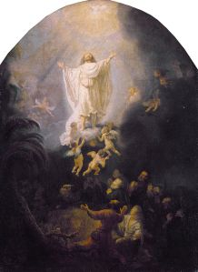 The Ascension by Rembrandt (1606–1669) (from here)