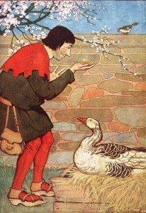 The Goose That Laid the Golden Eggs, illustrated by Milo Winter in a 1919 edition.