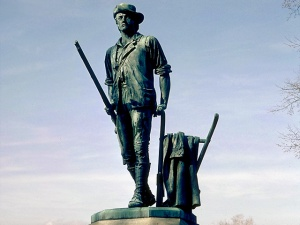 he Minute Man, a statue by Daniel Chester French erected in 1875 in Concord, Massachusetts. (from here)