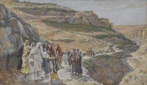Jesus followed by disciples, James Tissot, c. 1890