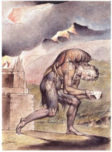 William Blake: Christian Reading in His Book (Plate 2, 1824–27) (from here)