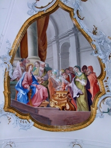 Baroque fresco at Ottobeuren. (from here)