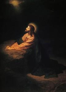 Christ in Gethsemane, Heinrich Hofmann, 1890 (from here)