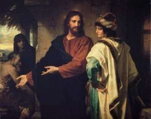 Christ and the Rich Young Ruler by Heinrich Hofmann, 1889 (from here)