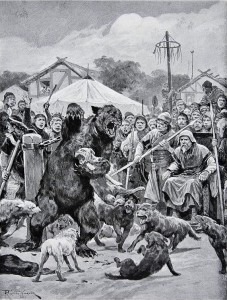 Bear Baiting in Saxon Times, Richard Caton Woodville, Jr., circa 1920.