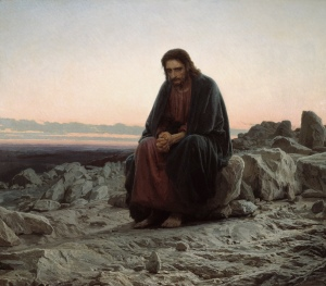 Christ in the desert by Ivan Kramskoi