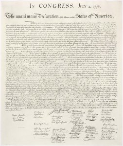 United States Declaration of Independence (from here)
