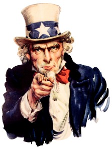 Image a day in the not so distant future. Uncle Sam wants you! Why? To be a bureaucrat. (picture from here)