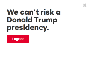 The first thing I saw on Hillary Clinton's website.