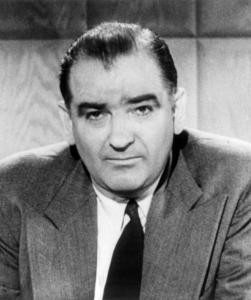 Senator Joseph McCarthy, an American demagogue