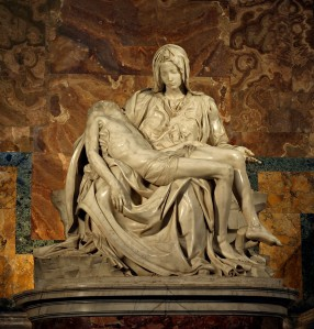 Michelangelo's Pietà in St. Peter's Basilica, Vatican City (from here)
